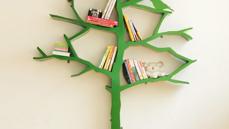 etag re biblioth que en forme d arbre mygadget. Black Bedroom Furniture Sets. Home Design Ideas