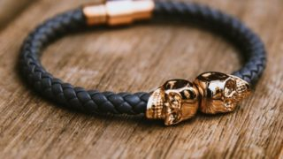 Twin-Skull-Leather-Bracelet-by-North-Skull