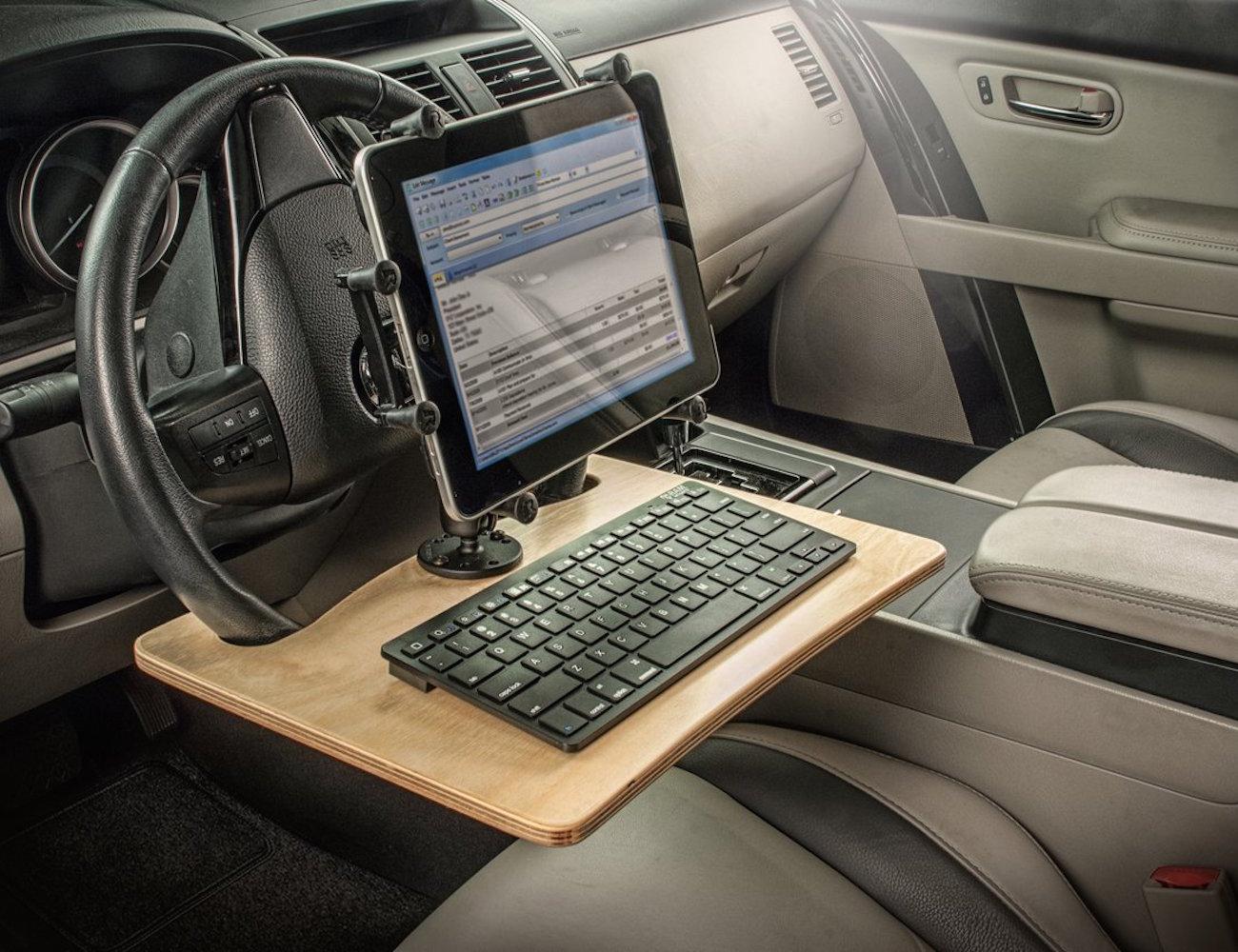 Autoexec wheelmate elite bureau amovible pour volant mygadget