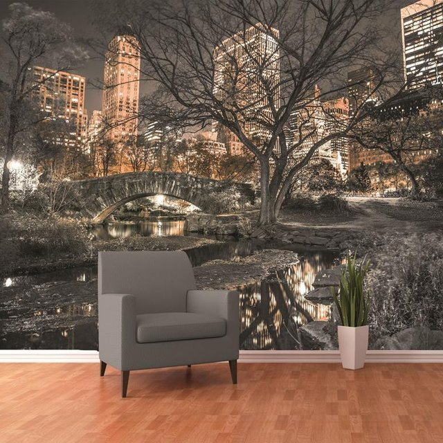 central park wall mural mygadget
